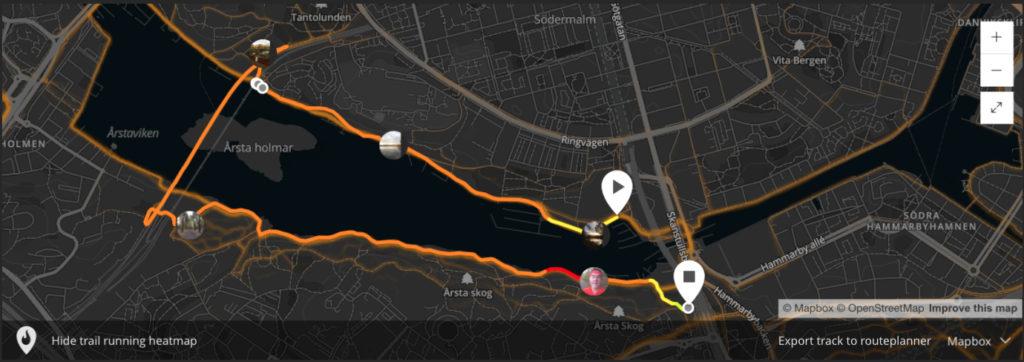 Stockholm trail map