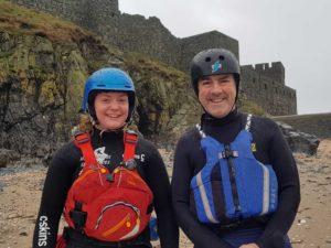 Alice and Neil coasteering
