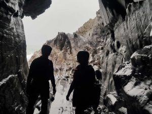 Cave on St Patrick's Isle