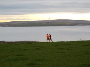 Running at Scapa Bay, Orkney