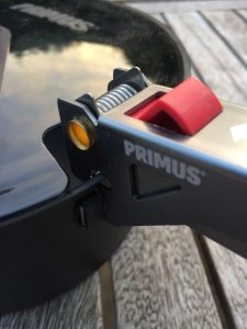 Primus stoveset lockable handle